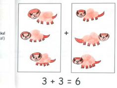 Thumbprint Dinosaur Guided Drawing Addition Doubles Book - Classroom Book Project