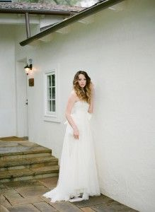 Vera Wang flowing gown. Hair  Makeup by Team Hair  Makeup, Photo by Lacie Hansen.