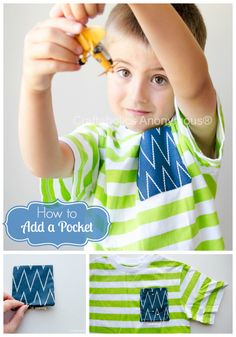 How to Add a Pocket to a T-shirt