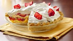 Refrigerated pie crust makes an easy base for this scrumptious strawberry dessert recipe that features layers of ladyfingers, vanilla pudding and fresh berries. From Stacey Boyd, Bake-Off® Monthly Challenge.