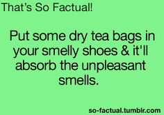 For your smelly shoes...