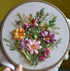 ribbon embroidery ♥