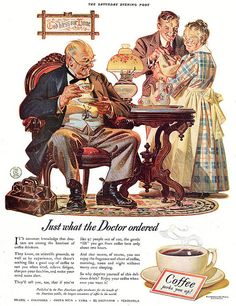 Coffee by J.C. Leyendecker