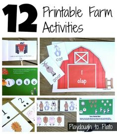 More than 60 pages of farm themed literacy and math activities for Pre-K and Kindergarten!