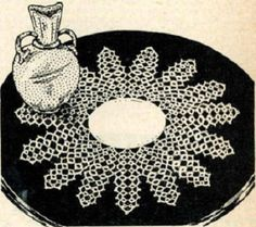 4907 Vintage Tatting PATTERN for Tatted Doily in by BlondiesSpot, $1.99