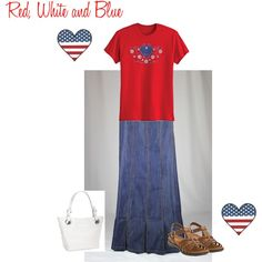 """RED, WHITE AND BLUE"" by sistrbeth on Polyvore"