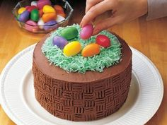 Easter cake using boxed cake mix