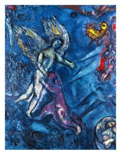 Jacob Wrestling by Marc Chagall
