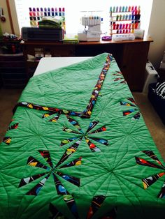 Paper Pieced Helicopter Quilt