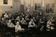 Ms. Vaughn's class at Rock School taken about 1951.