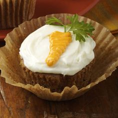 Carrot-Topped Cupcakes Recipe from Taste of Home