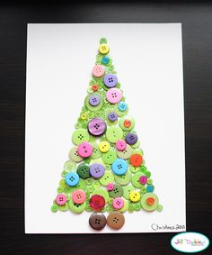 holiday, christmas crafts, button christma, christma tree, craft idea, tree crafts, christma craft, christmas trees, kid