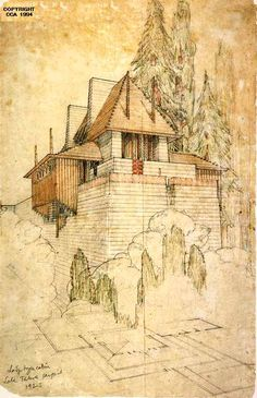 Frank Lloyd Wright, Lodge Type Cabin, Lake Tahoe Summer Colony