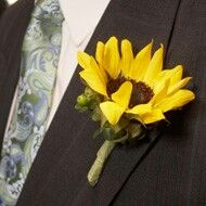 wedding themes, idea, stuff, dream, weddings, sunflowers, wedding planners, groom, boutonnieres