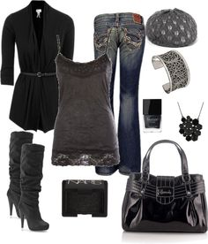 """""""Black and Grey Chic"""""""