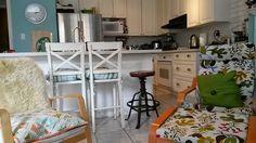 Painted oak kitchen.  Read my DIY.