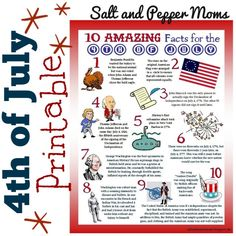 independence day for kids, pepper mom, peppers, trivia fact, juli, 4th of july for kids, learning about the 4th of july, salts
