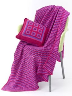 Tween Pillow & Throw #crochet