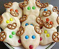 holiday, reindeer cookies, kid recipes, reindeer sugar, food, cookie cutters, school snacks, peanut butter, christma