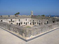 St Augustine Florida old Spanish fort Castillo de San Marcos