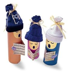 Recycled Paper Roll Christmas Choir Eco-friendly Craft