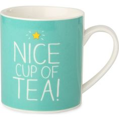 HAPPY JACKSON Nice Cup Of Tea mug ($14) found on Polyvore