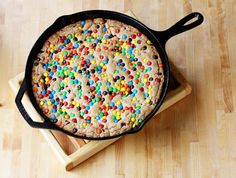browned butter, m&m & chocolate chip skillet cookie