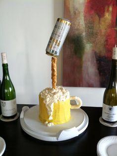 Beer Birthday Cake