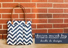 chevron march bag | doodle do designs