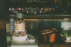 Four tier colourful wedding cake | Photography by http://www.nabeelscamera.com/