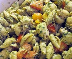 Pesto shell pasta salad
