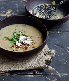 Mushroom Ginger Congee from OATrageous Oatmeals by Kathy Hester on Beard and Bonnet