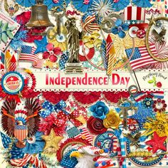 A huge Americana themed scrapbook collection for all your patriotic projects. You can find the Independence Day collection at Raspberry Road Designs.