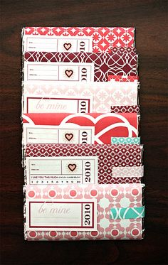 Valentine's Candy Wrappers available here: http://www.etsy.com/shop/BenignObjects