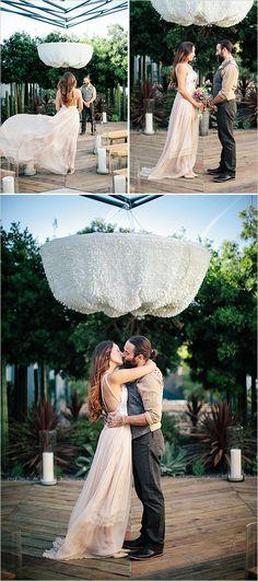 Garden wedding ideas at a trendy new LA Venue. Captured By: Tammy Horton Photography #weddingchicks http://www.weddingchicks.com/2014/07/18/fresh-garden-wedding/