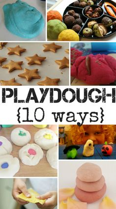 10 ways with Playdough. So much variety to make playdough even more fun!