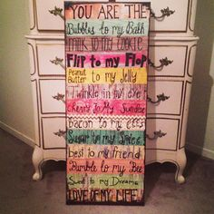 You are the love of my Life Handmade Canvas by ClassyCanvas, $75.00
