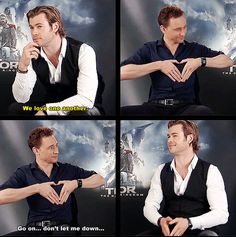 [gifset] Chris and Tom :)
