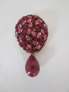 Gorgeous Vintage Austrian Ruby Red & Fuschia by DecatiqueStudios, $48.00