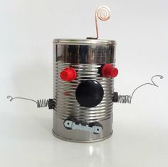 These tin can robot kits reminiscent of Mr.Potato allow kids to create (and re-create) robots from recycled parts and magnets.