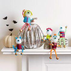 holiday, halloween decorations, eeri eyebal, idea, crafti kid, monster party, kid crafti, halloween crafts, monsters