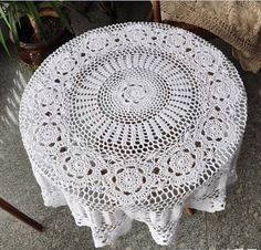 Free Crochet Patterns Round Table Toppers : Crochet Table Topper on Pinterest Crochet Tablecloth ...