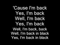 AC DC Back in Black (lyrics)