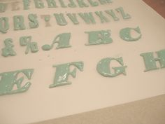 Drying Type for Typographic Cupcakes