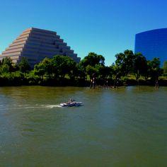 On the Sacramento River, downtown Sacramento