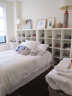 Ikea Headboard On Pinterest Bookcase A60ea8299154fdcc733527350a7f1b5f Source 17 Simple Tips To Make The Most Of Your Small Apartment