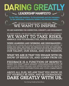 Brene Brown's Daring Greatly Manifesto