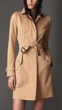 Burberry London S/S14 Long Cotton Gabardine Trench Coat