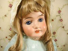 "25.5"" Antique German Doll QUEEN LOUISE Bisque Head Comp Body Armand Marseille"