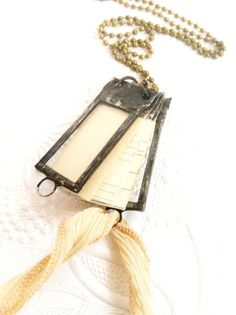 Journal Necklace Tiny Scrap Book Dream Journal by Mystarrrs